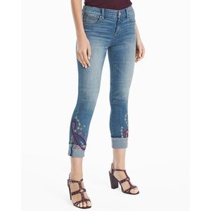 WHBM The Slim Embroidered Jeans